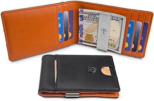 TRAVANDO-Slim-Wallet-with-Money-Clip-RIO-RFID-Blocking-Wallet-Credit-Card-Holder-Travel-Wallet-Minimalist-Mini-Wallet-Bifold-for-Men-with-Gift-Box