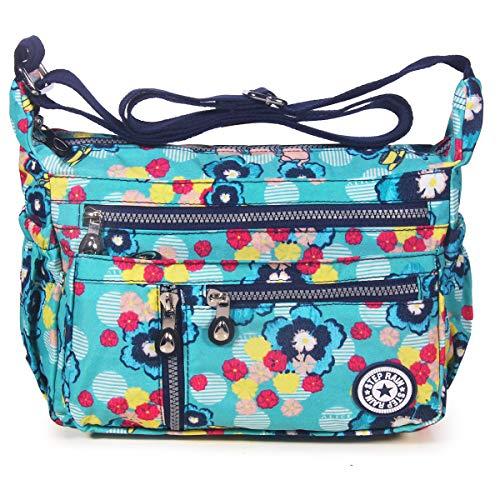 Women colorful ABLE Crossbody Splash Messenger Water Anti Flowers 4 Bags Shoulder dAwAqSz