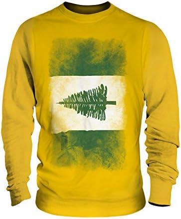 Faded de la Isla Norfolk bandera – Unisex Jumper – para hombre/para mujer/para mujer Amarillo Butterscotch XX-Large: Amazon.es: Ropa y accesorios