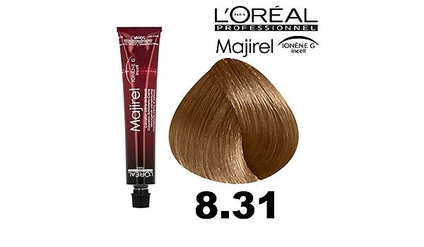 LOreal, Majirel 8,31 - Rubio Ch. Dorado ceniza 50 ml: Amazon ...