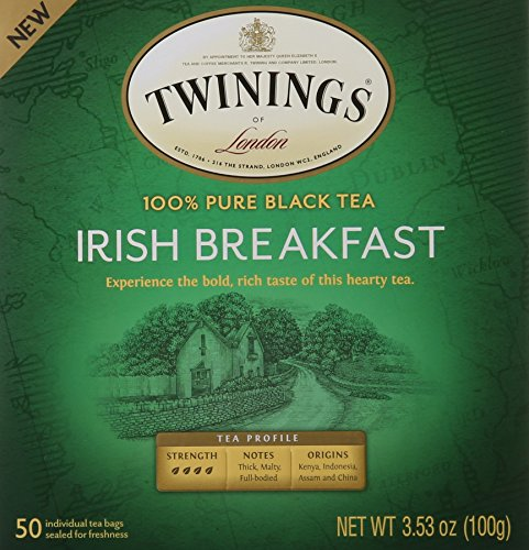 Twinings Black Tea Bags, Irish Breakfast, 50 Count (Assam Twinings Tea)