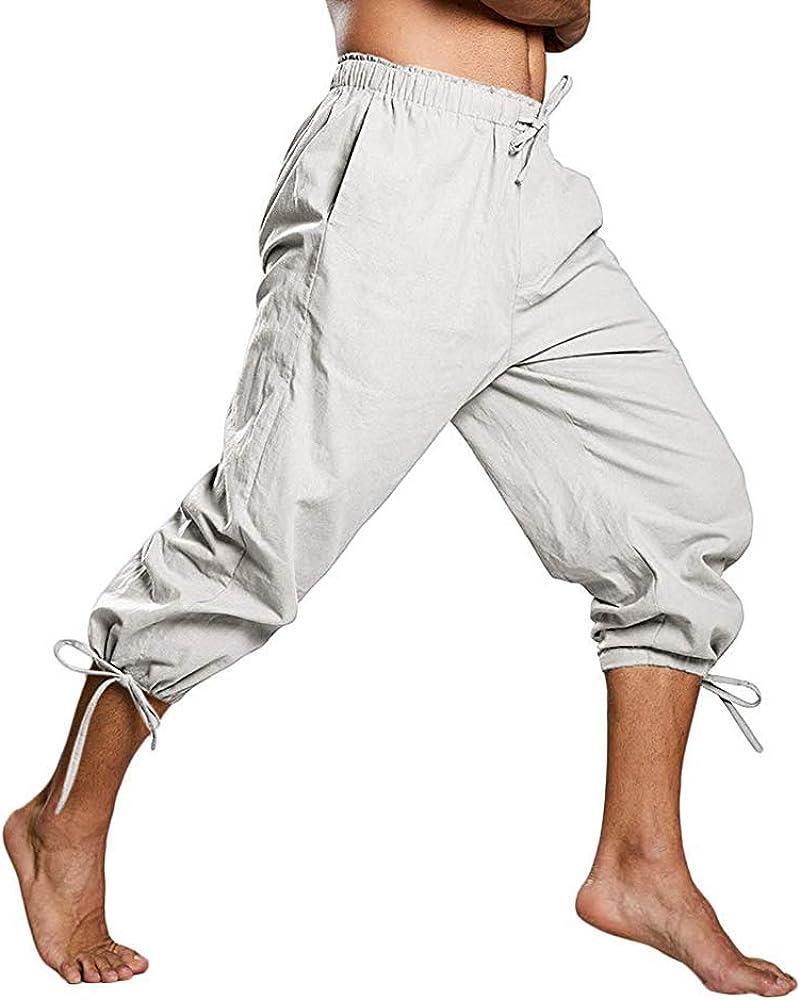 MEIHAOWEI Hombres Medieval Pantalones Cosplay Disfraz Pirata ...