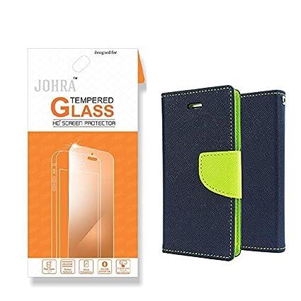 sports shoes 43979 59397 Vivo V5S Flip Cover, Johra Premium HD Tempered Glass: Amazon.in ...