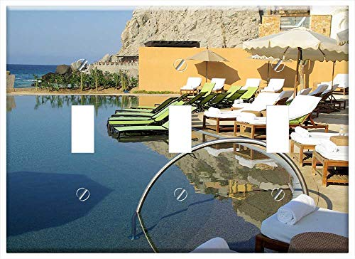 Switch Plate Triple Toggle - Cabo San Lucas Mexico Sea Resort Swimming Pool