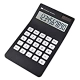 Calculator,CloudWave 10-Digit Solar Battery Dual Power Standard Function Desktop Calculator with Large LCD Display Office School Pocket Calculator