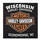 Harley-Davidson Men's Orange Bar & Shield Black