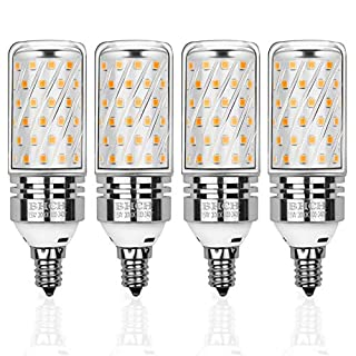 BHCH LED Corn Bulbs, E12 Small Edison Screw Bulbs, 15W, 120W Incandescent Bulbs Equivalent, Warm White 3000K, Non-Dimmable, Pack of 4