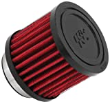K&N 62-1470 Vent Air Filter / Breather: Vent Air Filter/ Breather; 1.75 in (44 mm) Flange ID; 2.5 in (64 mm) Height; 3 in (76 mm) Base; 3 in (76 mm) Top