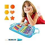 MINO ANT Aqua Water Doodle Drawing Mat and Magic Pen, Coloring Books for Girls Toddler - Toys for Kids 2 3 4 5+ Years Old