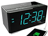 iTOMA Alarm Clock Radio with Wireless Bluetooth Stereo Speakers (Small Image)