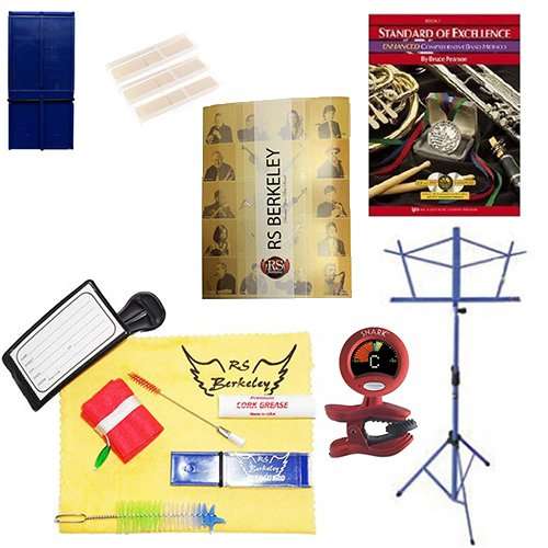 Clarinet Players Mega Pack - Essential Accessory Pack for the Clarinet: Includes: Clarinet Care & Cleaning Kit, Clarinet Reed Pack w/Reed Holder, Music Stand, Band Folder, Standard of Excellence Book 1 for Clarinet, & Tuner & Metronome by Clarinet Accessory Pack (Image #8)