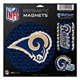 WinCraft NFL St. Louis Rams Prismatic Magnets Sheet, 11''x11'', Team Color