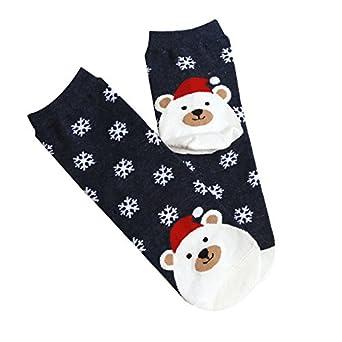 Calcetines de Navidad con Dibujos Animados de Fox Copos de Nieve adecuados para Hombres y Mujeres riou: Amazon.es: Ropa y accesorios