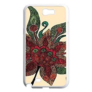 Random Flowers Customized Case for Samsung Galaxy Note 2 N7100, New Printed Random Flowers Case