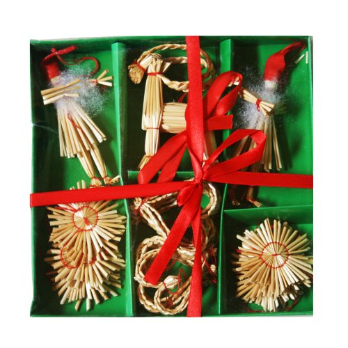Straw Ornament Boxed Assortment - 21 pc