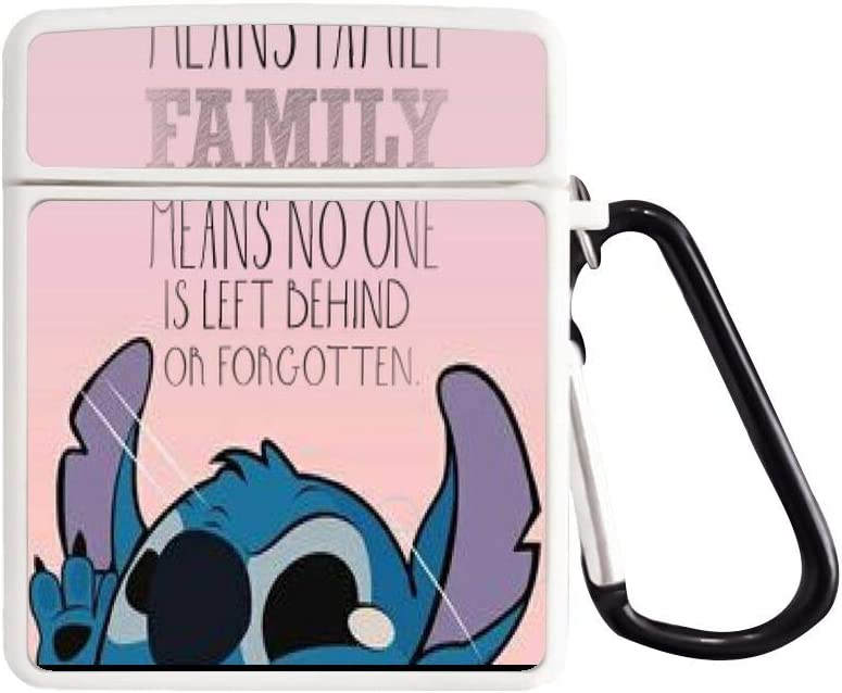 Amazon Com Disney Collection Airpods Charging Case 2 1 Stitch Disney Ohana Family Forgotten Sad Depressed Love Alone Happy Silicone Cover Skin Cartoon Cute Shockproof Protective