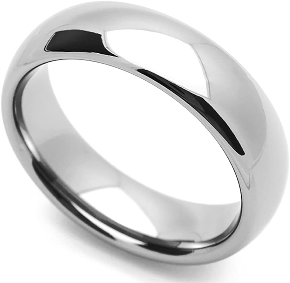 Wedding Bands Classic Bands Domed Bands Sterling Silver 6mm Comfort Fit Band Size 11.5