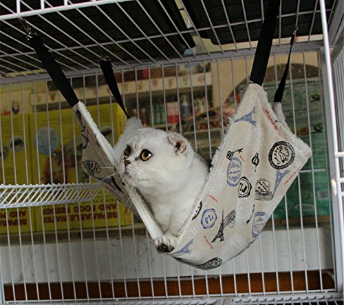 EP(US) Cat Hammock For Ferret, Rat, Rabbit, Small Dogs or Other Pet-Easy to Attach to a Cage-Larger size