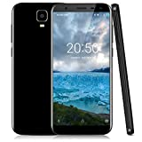 Xgody Y23 6 Inch Unlocked Smartphones 18:9 Android 7.0 Nougat 16 GB ROM 1GB RAM HD Screen Quad Core Dual Sim Dual Camera 8MP&13MP for Net10 Wireless, Straight Talk Cell Phones with Wi-Fi GPS Black