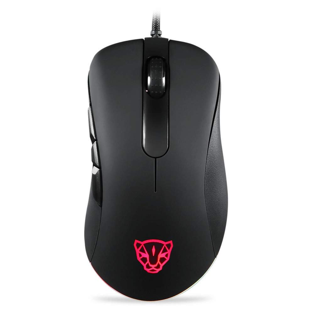 💗 Orcbee 💗 _Motospeed V100 PAW3327 LED 6200DPI Professional for Switch RGB Esport Game Mouse