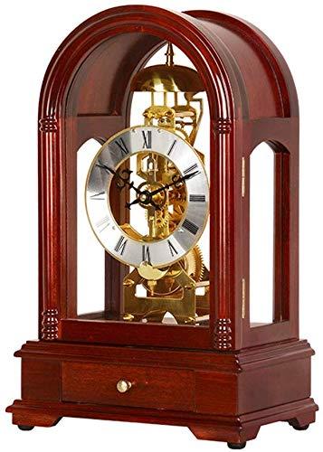 CLHXZE Reloj De Mesa Retro Reloj de Mesa Escritorio de Madera ...