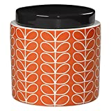 Orla Kiely Large Storage Jar Linear Stem Persimmon