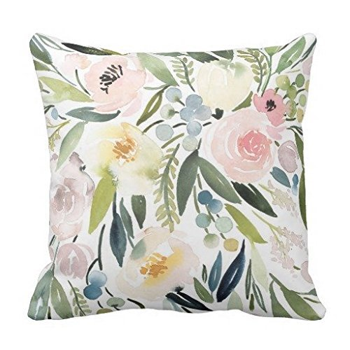 ufdgsv square Watercolor Floral Pillow product image