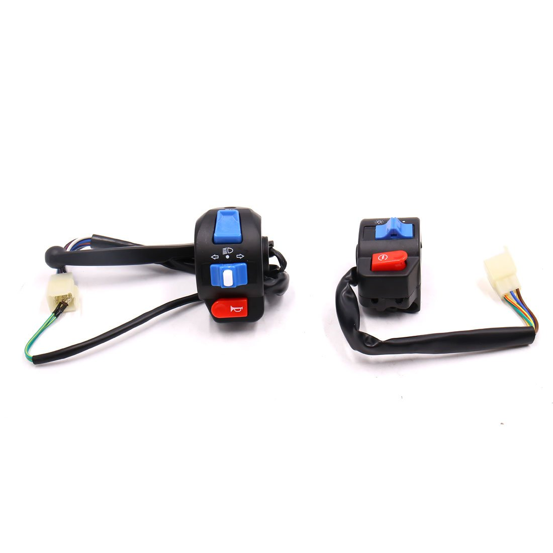 uxcell 2pcs Handlebar Turn Signal Light ON/OFF Control Switch for GY6-125 by uxcell