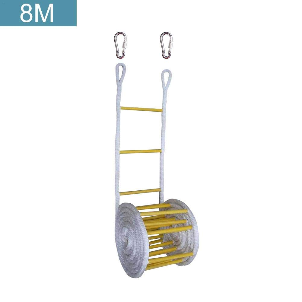 StageOnline Nylon Fire Emergency Safety Ladder with Hook Carabiner Emergency Rescue Ascending Ladder for Children and Adults Escape from Window and Balcony Well-Liked by StageOnline