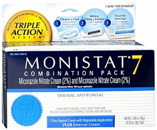 MONISTAT 7 Triple Action System, Combination Pack, 7-day ...