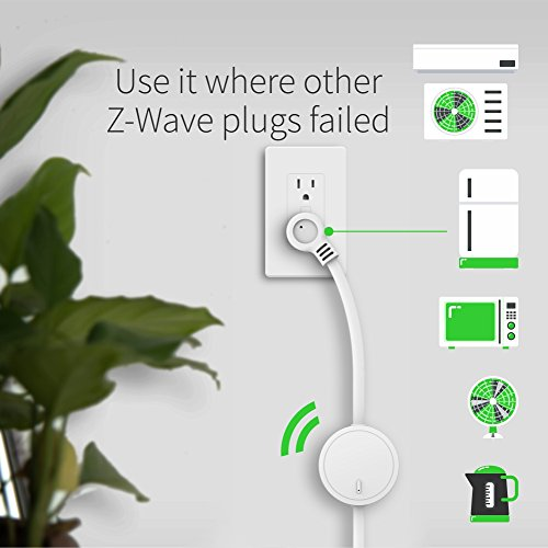 Zooz Z-Wave Plus Power Switch ZEN15 for 110V AC Units, Sump Pumps, Humidifiers, and More