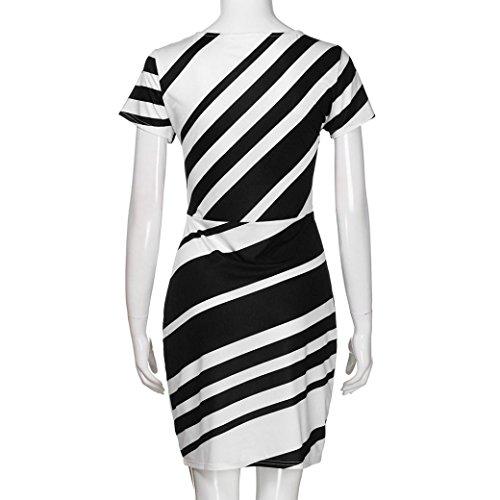 Damen Kleid Huhu833 Working Kleider der Frauen Bleistift Streifen ...