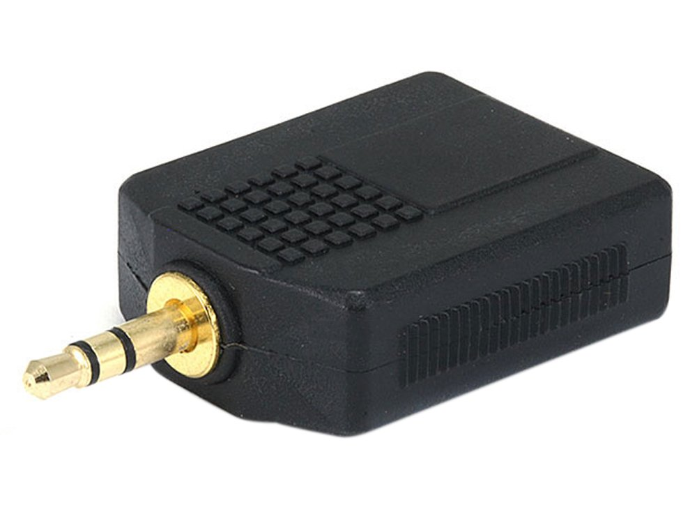 3.5mmステレオプラグ - 2 x 6.35mm (1/4インチ) モノラルジャックスプリッターアダプター - ゴールド   B00ANASDUQ