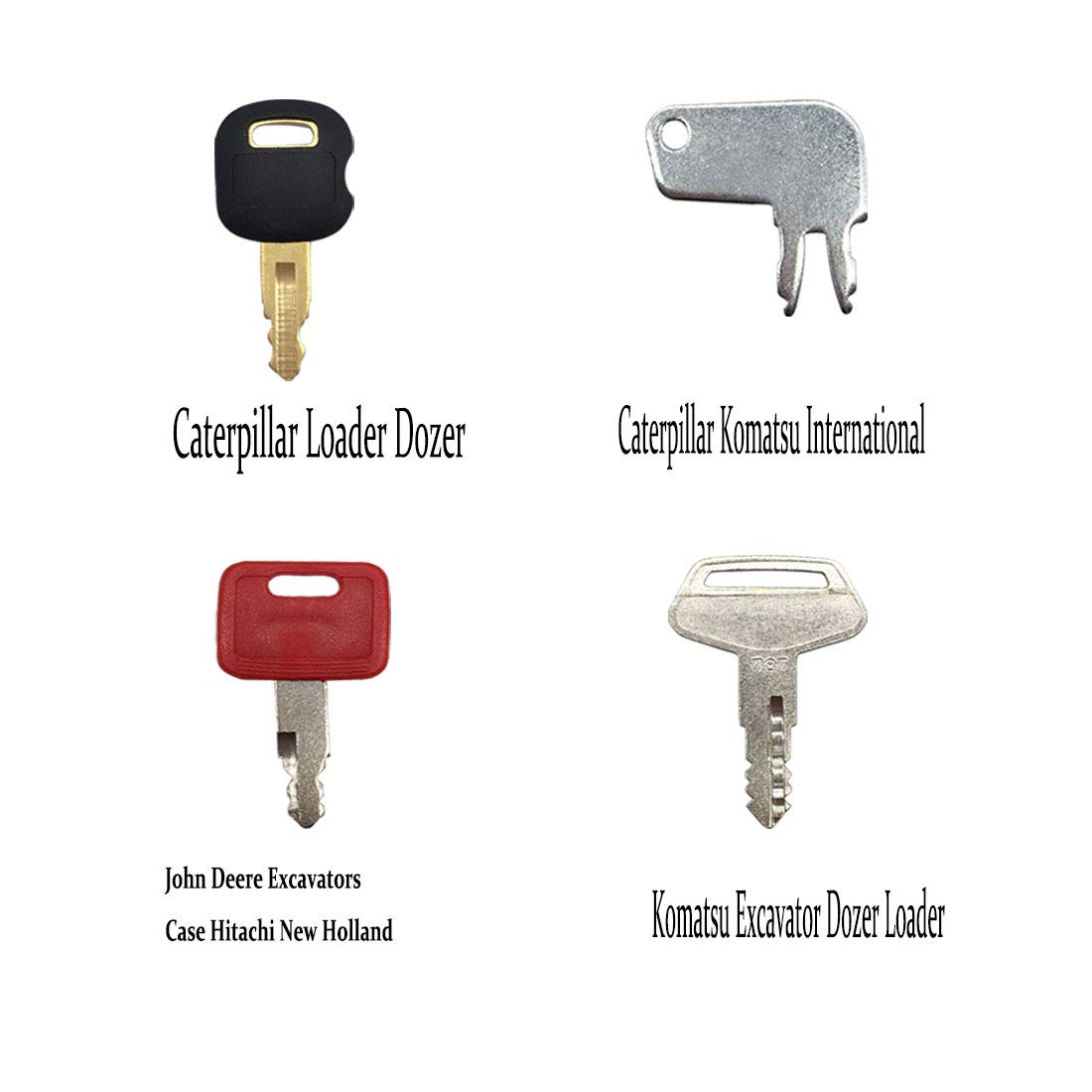 Heavy Equipment Construction Key Set Ignition Key Set 7 Keys for Caterpillar John Deere Komatsu