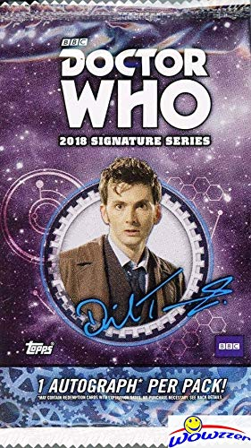 2018 Topps Doctor Who: Signature Series Factory Sealed HOBBY Pack with Hand Signed Authentic AUTOGRAPH Card! Look for Autos of Pete Davison, Rose Tyler, James Corden, Nick Frost & More! WOWZZER!