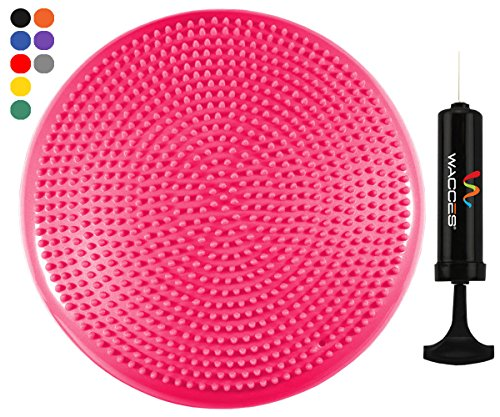 Wacces Inflatable Stability Balance Disc with Smart Pump, ( Pink )