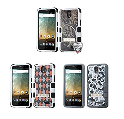 For ZTE Cheers/Maven2/Sonata3/Avid+/Prestige Impact Armor Case Cover w/Stand from Valor