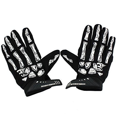 MeanHoo Unisex Non-Slip Gel Pad Gloves Sportswear Bike Bicycle Cycling Riding Short Full Finger Gloves Breathable Mesh, Black