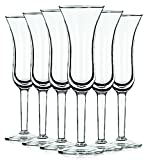 Libbey Clear Tall Dutch Cordial Glasses 1.5 oz. set of 6 – Additional Vibrant Colors Available by TableTop King For Sale