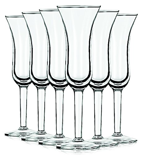 Libbey Clear Tall Dutch Cordial Glasses 1.5 oz. set of 6 - (Dutch Liqueur)