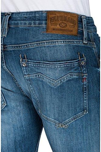 9 Jeans Newbill Denim Uomo Blu blue Straight Replay 6P0xqwBP