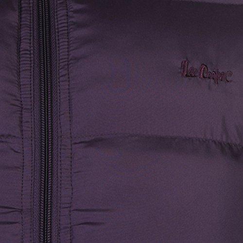 Lee Cooper 2Zip Bubble Veste pour femme Violet Manteau Parka vestes et manteaux