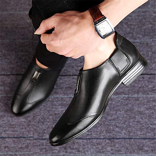 Classico Cravatta Semplice Classico da Nero Business a Stile Oxford Casual Cricket Scarpe Punta Uomo con da Casual 0vAAgq8w