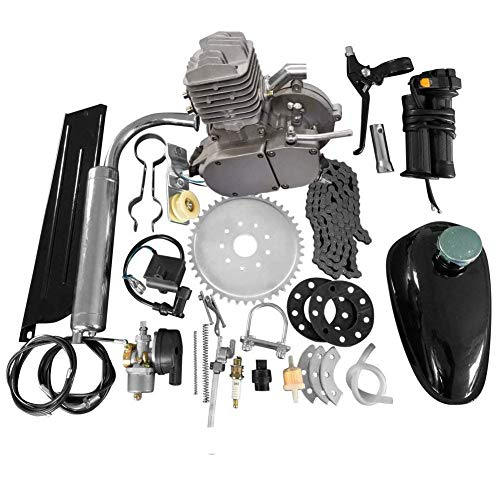 "80CC 26"" 28"" Bike Bicycle Motorized 2 Stroke Cycle Petrol Gas Engine Kit Set(Silver)"