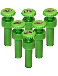 Jokari 6 Count Mtn Dew Modern Logo Fizz Keeper Soda Bottle Pump Caps Green