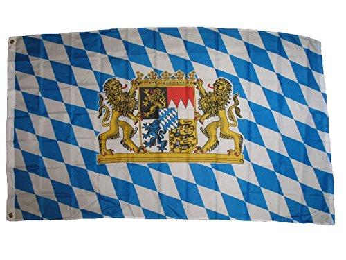 ALBATROS 3 ft x 5 ft German Germany Crest Bavaria Bavarian Lions/Crest Poly Flag Banner for Home and Parades, Official Party, All Weather Indoors Outdoors