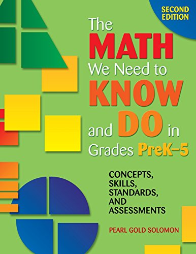 The Math We Need to Know and Do in Grades PreK–5: Concepts, Skills, Standards, and Assessments