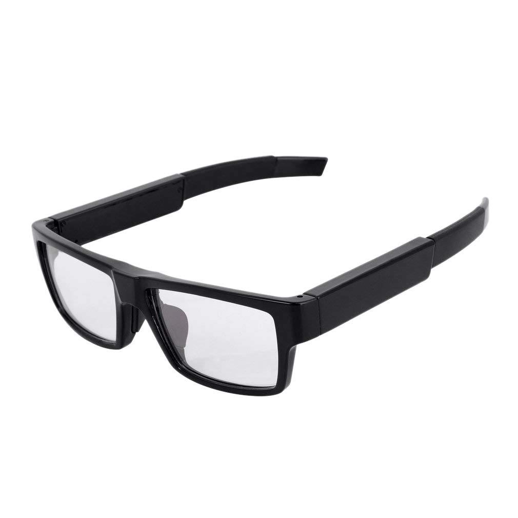 SODIAL 1080P Hd PressControl Camera Glasses Rechargeable Smart Glasses Camcorder(Black)