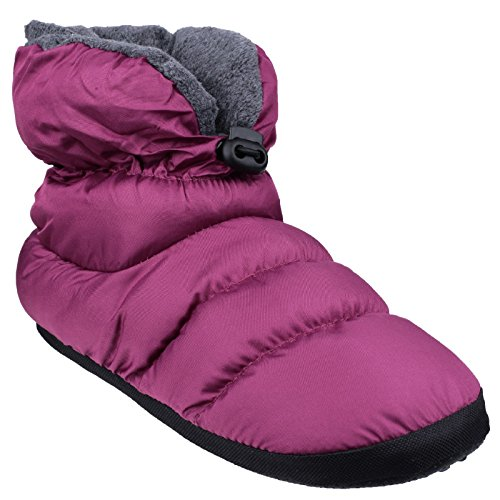 Cotswold Ladies Casual Comfort Camping Bootie Slippers Purple Pink