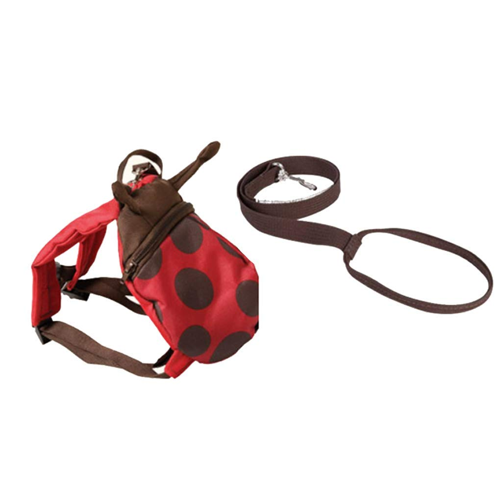 Harnesses & Leashes How to Prevent Children from Losing to Lose Weight Retractable Baby Anti-Lost Bracelet Safety Backpack Artifact Anti-Lost Rope Backpack Baby Bag (Color : Red, Size : 262211)